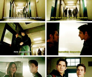 scott, tracy, and teen wolf image