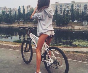 bicycle, city, and legs image