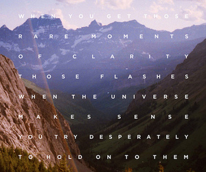 quote and mountains image