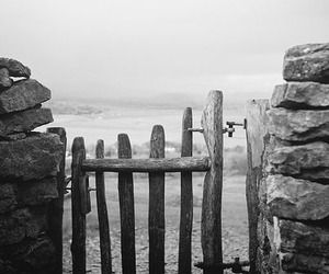 gate, photography, and rocks image