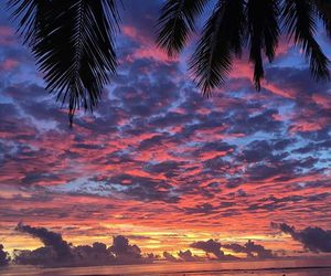 beach, colors, and sky image