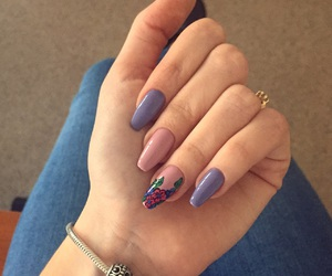lovly, nails, and pink image