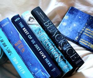 books, reading, and bookshelf image