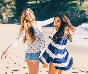 friends, beach, and grunge image