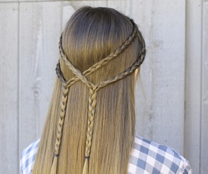 hairstyle, hairstyletutorial, and doubletiehairstyle image