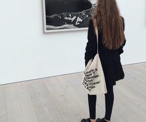 art, black, and girl image