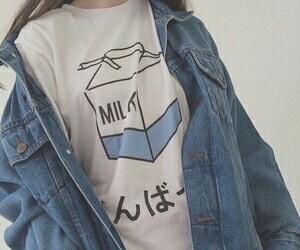 milk, grunge, and blue image