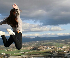 Flying, happiness, and jump image