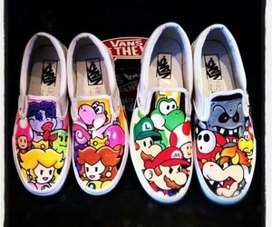 vans, mario, and shoes image