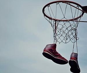 air, basket, and Basketball image