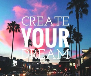 Dream, easel, and quote image