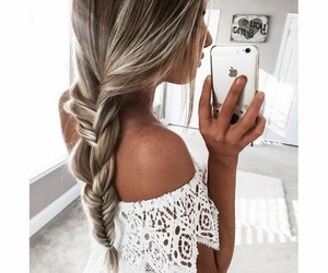blond, fashion, and white image