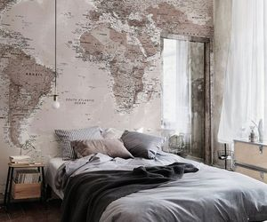 bedroom, decorating, and grey image