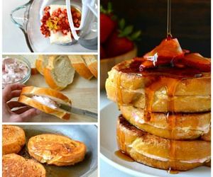 cheesecake, french toast, and maple syrup image