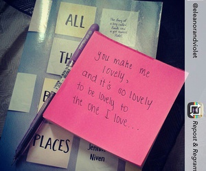 post-it, all the bright places, and jennifer niven image