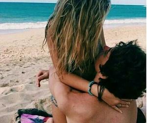 beach, boy, and hug image
