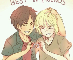 anime, attack on titan, and best friends image