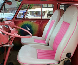 beautiful, pink, and car image