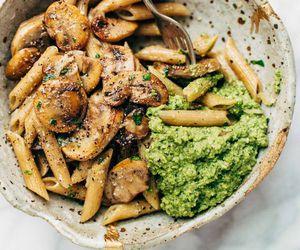 food, pasta, and mushroom image