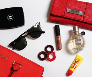 carmex, chanel, and flowerbomb image