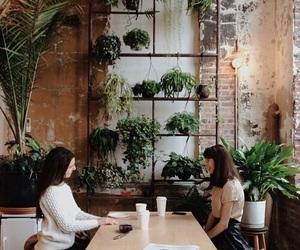 plants, girl, and green image