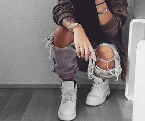 accessories, fashion, and boots image