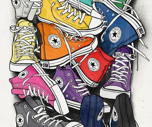 converse, colors, and shoes image