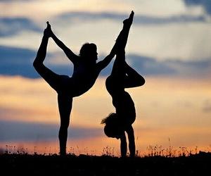 yoga and sunset image