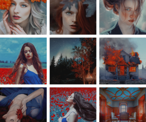 blue, colorful, and red image