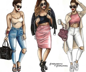 drawing, fashion, and art image