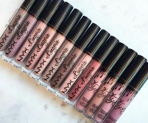 makeup, lipstick, and NYX image