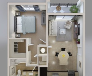 house, apartment, and design image