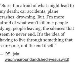 afraid, breakup, and depressed image