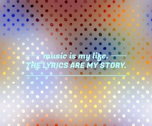 colors, playlist, and polka dots image