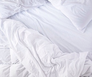 bed, white, and theme image