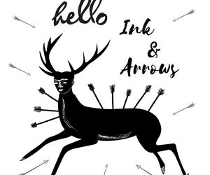 illustration, interwiew, and ink and arrows magazine image