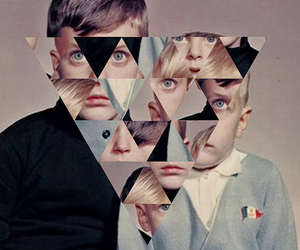 triangle, art, and Collage image