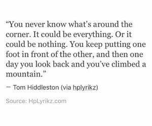 mountains, quotes, and tom hiddleston image