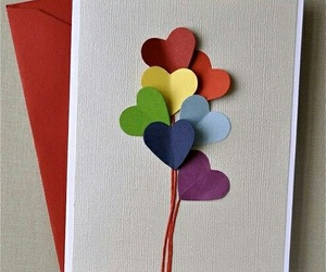 card, diy, and heart image