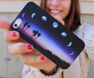 iphone, case, and moon image