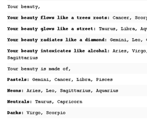 astrology, beauty, and horoscope image