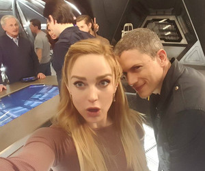 wentworth miller, legends of tomorrow, and caity lotz image