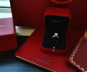 cartier, luxury, and ring image