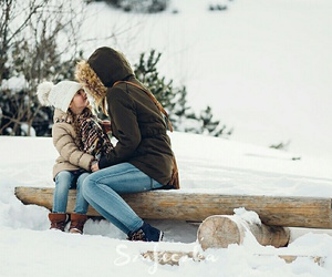 beautiful, mommy, and snow image