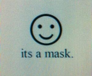 mask, smile, and sad image