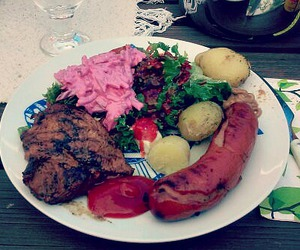 finland, summer, and grilled food image