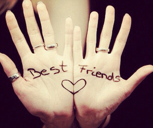 best friends, bff, and hands image