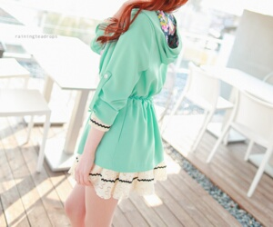 dresses, girls, and green image