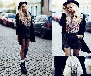 lookbook, blonde, and outfit image