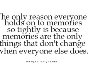 memories and text image